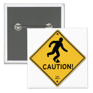 Road Signs Yellow Warning Sign Caution Tripping Button