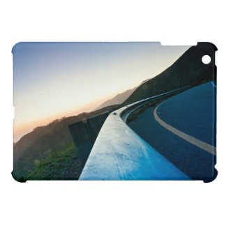 Road Themed, Curving Sharp Bend Highway Guardrail iPad Mini Case