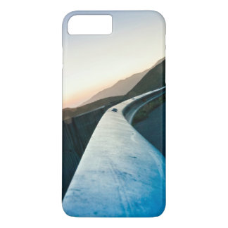 Road Themed, Curving Sharp Bend Highway Guardrail iPhone 8 Plus/7 Plus Case