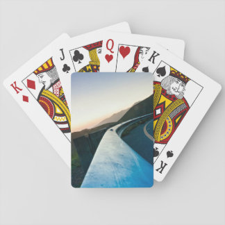 Road Themed, Curving Sharp Bend Highway Guardrail Playing Cards