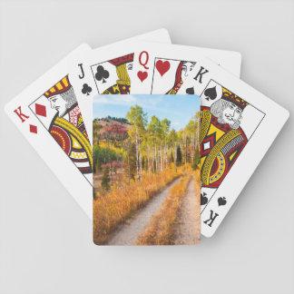 Road Through Autumn Colors Card Deck