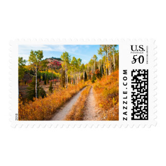 Road Through Autumn Colors Postage