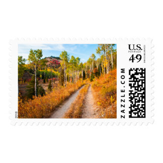 Road Through Autumn Colors Postage