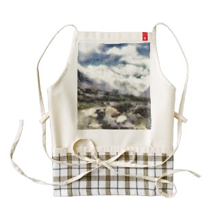 Road through the mountains zazzle HEART apron