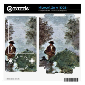 Road through the olive grove by Giovanni Fattori Decal For The Zune