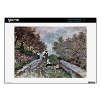 Road through the olive grove by Giovanni Fattori Acer Chromebook Decal