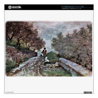 Road through the olive grove by Giovanni Fattori Decal For MacBook Air
