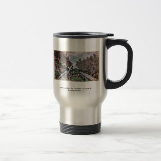 Road Through The Olive Grove With Two Passers 15 Oz Stainless Steel Travel Mug
