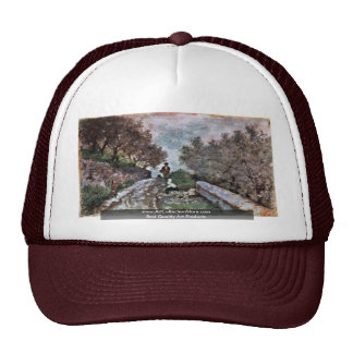Road Through The Olive Grove With Two Passers Hat