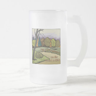Road to 1984 #3 frosted glass beer mug