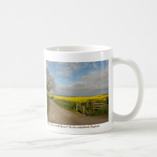"""Road to Beach at Alnmouth"" Classic White Coffee Mug"