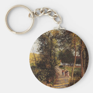 Road to Berneval-le-Petit by Camille Pissarro Keychain