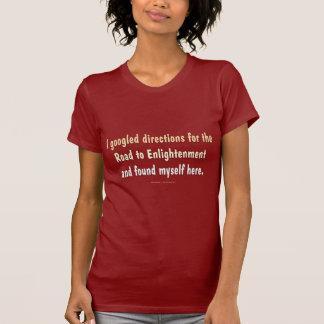 Road to Enlightenment ladies dark shirts Tshirts
