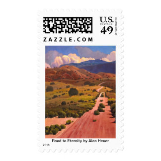 Road to Eternity by Alan Heuer Postage Stamps