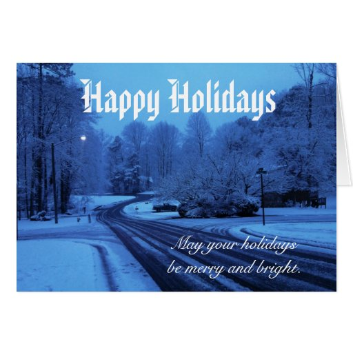 Road to Holidays Greeting Card