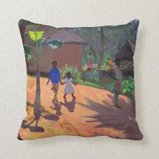 Road to Kovalum Beach Kerala 1996 Throw Pillow