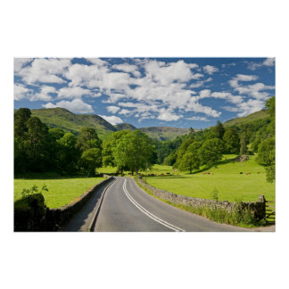 Road to Lake District England poster FROM 8 99