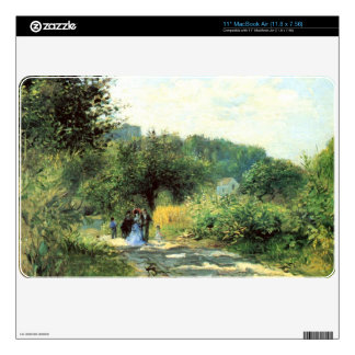 Road to Louveciennes by Pierre Renoir Decal For MacBook