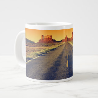 Road To Monument Valley At Sunset Giant Coffee Mug