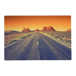 Road To Monument Valley At Sunset Placemat