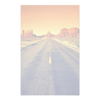 Road To Monument Valley At Sunset Stationery