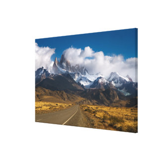 Road To Mount Fitzroy, Patagonia Canvas Print