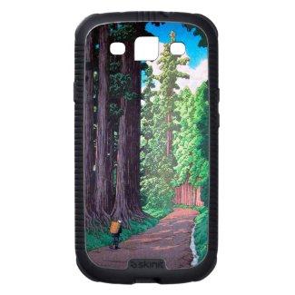 Road to Nikko Hasu Kawase forest shin hanga scene Galaxy SIII Covers
