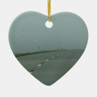 Road to no where ceramic ornament