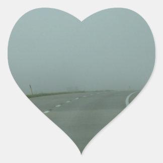 Road to no where heart sticker