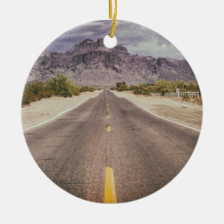 Road to nowhere ceramic ornament