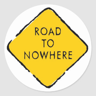 Road to Nowhere Classic Round Sticker