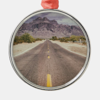 Road to nowhere metal ornament