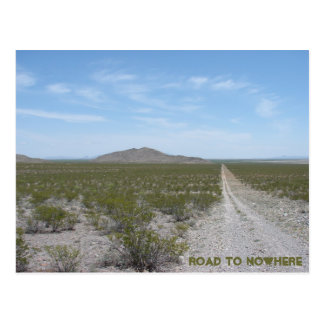 Road to nowhere postcards