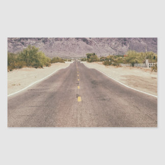 Road to nowhere rectangular sticker