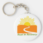 Road to Recovery Gear Basic Round Button Keychain