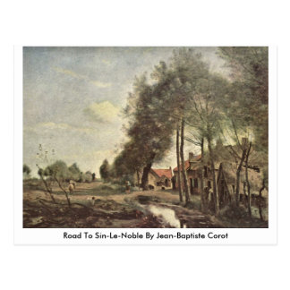 Road To Sin-Le-Noble By Jean-Baptiste Corot Postcard