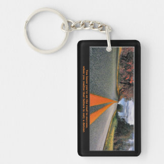 Road to Success Rectangle Acrylic Key Chains