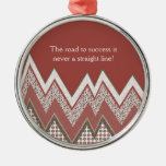 Road to success round metal christmas ornament