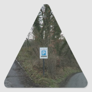 Road to Sycharth - Home of Owain Glyndwr Triangle Sticker