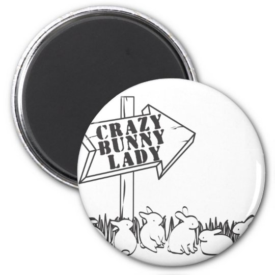 ROAD TO THE CRAZY BUNNY LADY MAGNET