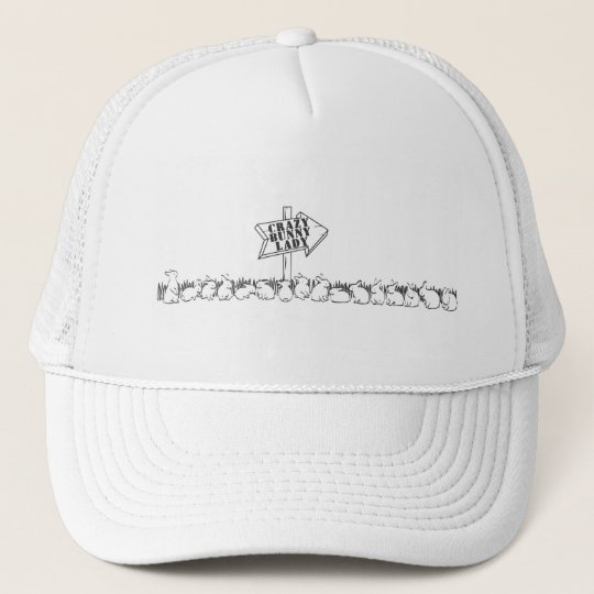 ROAD TO THE CRAZY BUNNY LADY TRUCKER HAT
