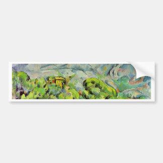 Road To The Montagne Sainte-Victoire Car Bumper Sticker