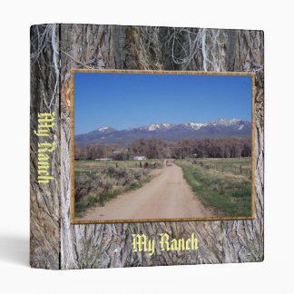 Road To the Ranch 3 Ring Binder