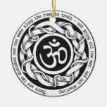 Road to Truth Devanagari Om Symbol Double-Sided Ceramic Round Christmas Ornament