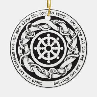 Road to Truth Dharma Wheel Ceramic Ornament