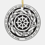 Road to Truth Dharma Wheel Double-Sided Ceramic Round Christmas Ornament