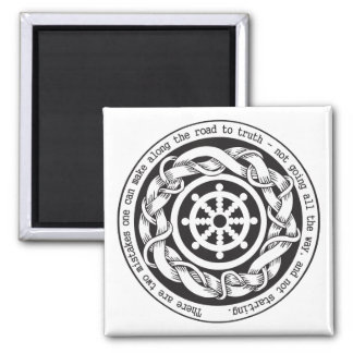 Road to Truth Dharma Wheel Refrigerator Magnet