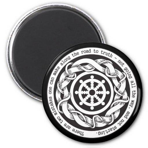 Road to Truth Dharma Wheel Fridge Magnet