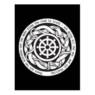Road to Truth Dharma Wheel Postcard