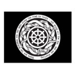 Road to Truth Dharma Wheel Postcard